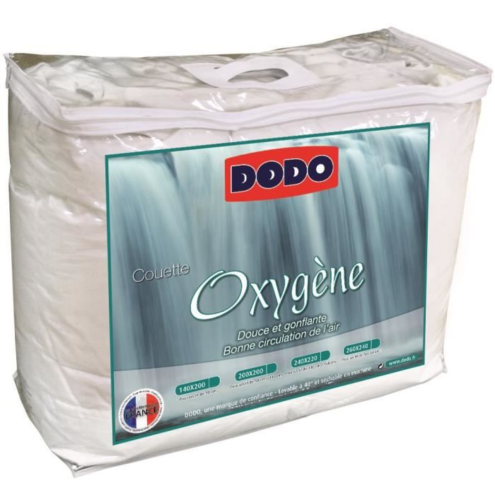 Dodo Couette Temperee 300g M Oxygene 220x240 Cm Blanc Achat