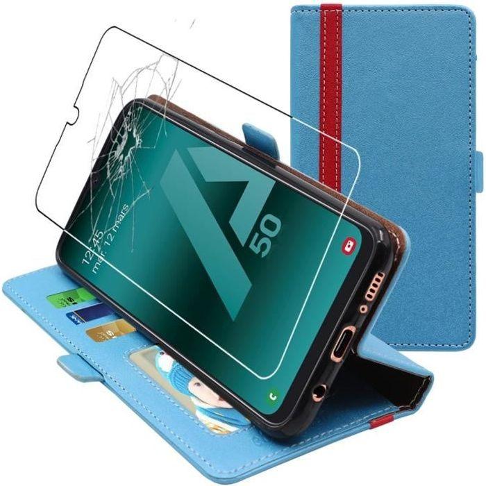 Saceebe Compatible avec Samsung Galaxy A50 Coque Cuir Flip Portefeuille Housse Couleur R/étro Motif /Étui de Protection Magn/étique Porte-Cartes Stand /à Rabat,Attrape-r/êves Dream Catcher