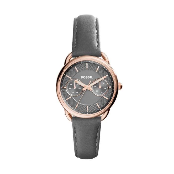 montre fossil femmes bracelet cuir