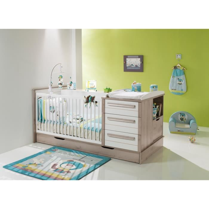 Lit bebe combine avec commode kirsten achat vente for Chambre kirsten