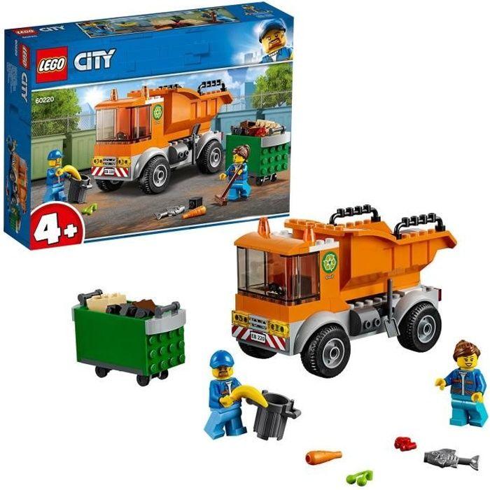 ASSEMBLAGE CONSTRUCTION LEGO® 4+ City 60220 Le camion de poubelle