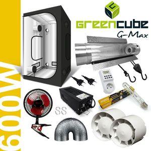 KIT DE CULTURE Pack Box 600W Cooltube G-Max 120 - Black Box + Flo