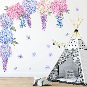 Stil.Zeit des Troncs darbres avec perc/ée de Mur de Lierre en 3D Look d/écoration Murale Sticker Mural Stickers muraux Mur ou Format Vignette de la Porte: 62x42cm