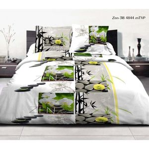 parure drap plat 2 personnes en coton achat vente parure drap plat 2 pers. Black Bedroom Furniture Sets. Home Design Ideas