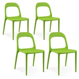 FAUTEUIL JARDIN  Chaise en plastique vert extérieur