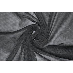 TISSU Tissu Résille Polyester Noire -Au Mètre