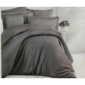 Parure de Couette 240x260 cm Drap Housse 160x200 cm Douceur dinterieur Pack Agatha 100/% Coton Gris Taupe