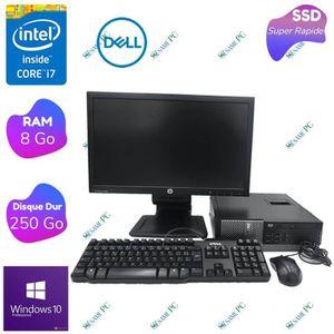 UNITÉ CENTRALE + ÉCRAN Dell Optiplex 7010 - Intel Core i7 3770 - RAM 8 Go