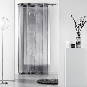 VOILAGE CDaffaires Panneau a oeillets 140 x 240 cm voile i