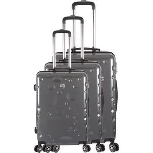 SET DE VALISES FRANCE BAG Set de 3 Valises 8 roues abs/polycarbon