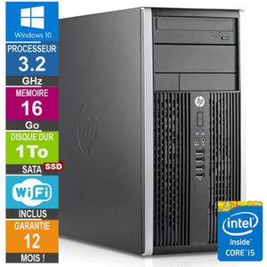 ORDI BUREAU RECONDITIONNÉ PC HP Pro 6300 MT Core i5-3470 3.20GHz 16Go/1To SS