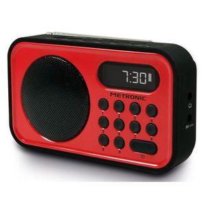 RADIO CD CASSETTE MET 477221 Radio FM Rouge