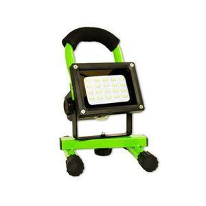 PROJECTEUR EXTÉRIEUR Spot halogène rechargeable 8 watts LED Arcas (Vert