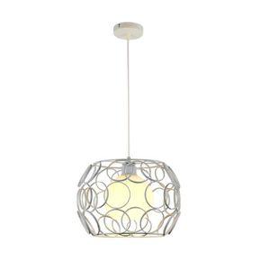 LUSTRE ET SUSPENSION Lustre Lampe Abat-jour Cage Industrielle Pendant L
