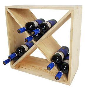 MEUBLE RANGE BOUTEILLE Casier à vin BACCHUS en forme de X - Étagère à bou
