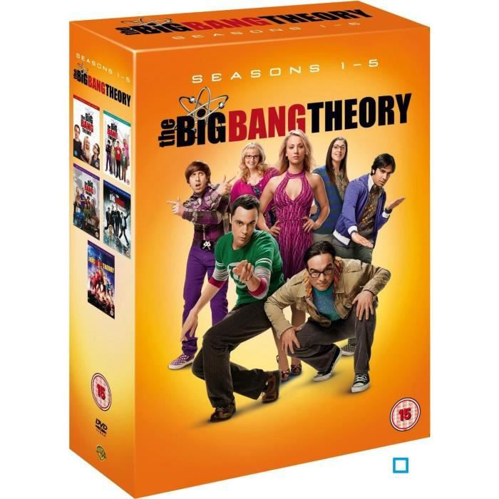 dvd the big bang theory saisons 1 5 en dvd s rie pas. Black Bedroom Furniture Sets. Home Design Ideas