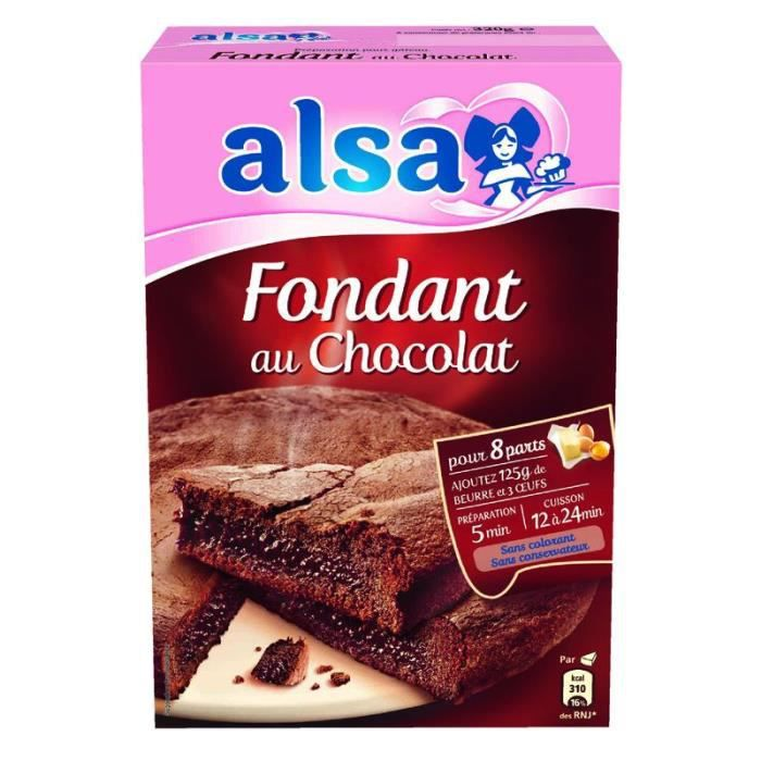 ALSA Préparation pour Fondant au Chocolat 320 g