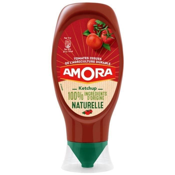 Amora Ketchup 100% Ingrédients d'Origine Naturelle 469g (lot de 5)