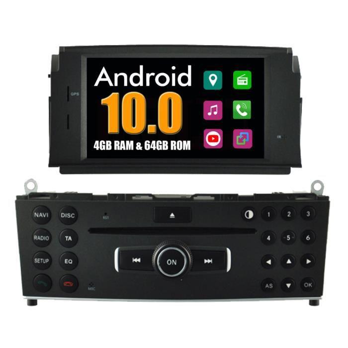 Autoradio Bluetooth GPS Navigation pour Mercedes C Class W204 C180 C200 C220 C230 C240 C250 C280 C300 C350 C320 C63 2007-2011