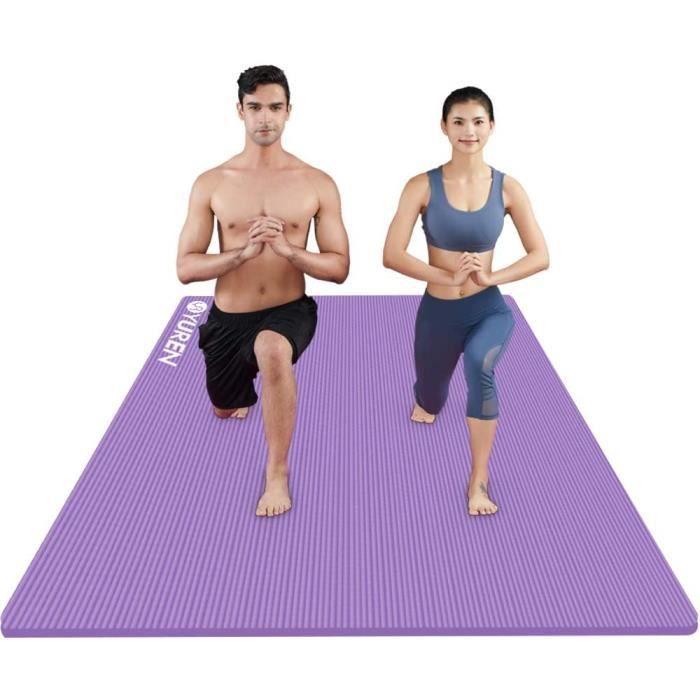 YUREN Tapis de Yoga Extra Large 130×200×2cm Ultra-Epais Confort Haute Densité NBR Mousse Home Gym Cardio Pilates Yoga Fitness Sport