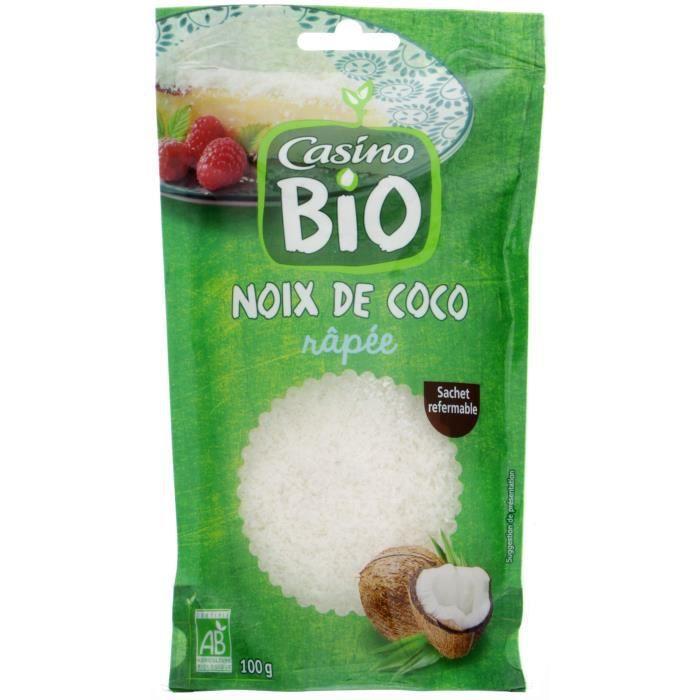CASINO Noix de Coco Rapée Bio - 100G