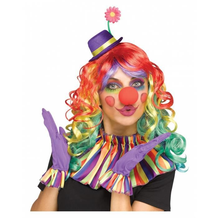 Ensemble d'accessoires de clown coloré