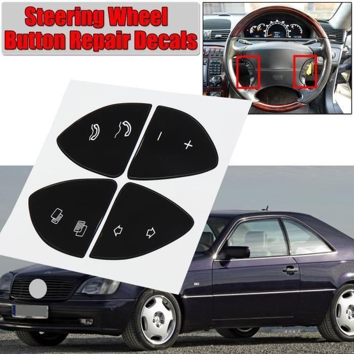 Kit Autocollants Bouton De Réparation Volant de voiture Stickers Pour MERCEDES BENZ W220 S430 S500 S600 CL500 CL600 Aw43619