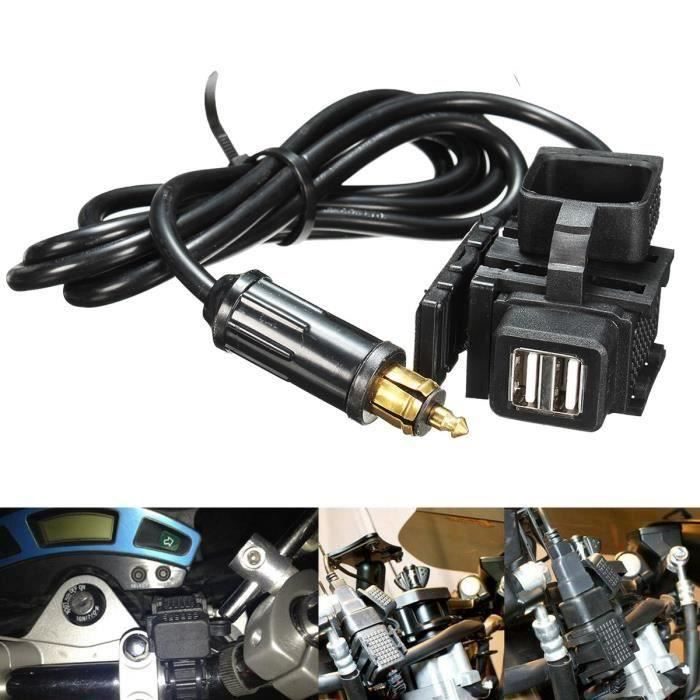 TEMPSA Moto GPS Téléphone Dual USB Allume-cigare Port Prise Alimentation Chargeur Pour BMW