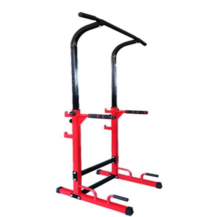 Barre de remorquage Rack Musculation Cage Squat Poids Racks Chaise Romaine Barre De Traction Musculation Station Traction Dips po418