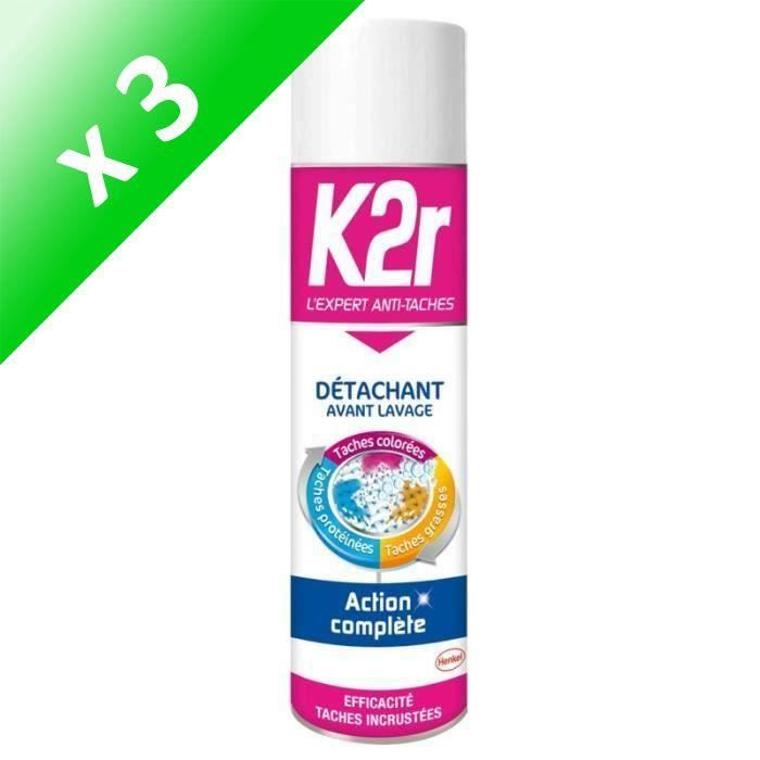 K2R Detachant avant lavage - (Lot de 3x 400 ml)