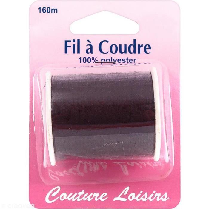 Fil à coudre Marron - 160 m Fil à coudre Couture Loisirs : - Couleur : Marron - Matière : 100% polyester - Longueur : 160 mètres -