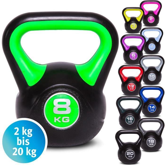 Kettlebell Haltère en vinyle Poids de gymnastique Kettle Bell, Kettlebells, haltère d'entraînement, 2 kg 3 kg 4 kg 5 kg 6 kg 8 kg