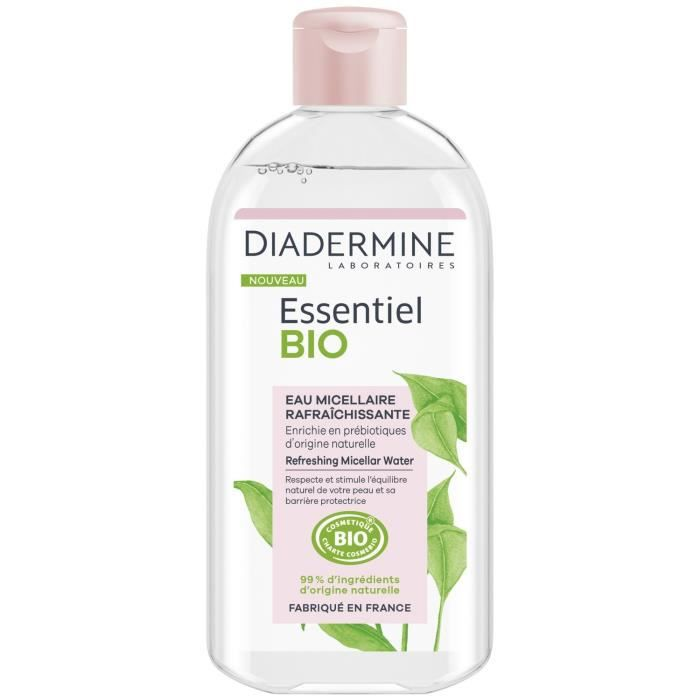 LOT DE 6 - DIADERMINE Essentiel Eau micellaire Bio - flacon de 400mL