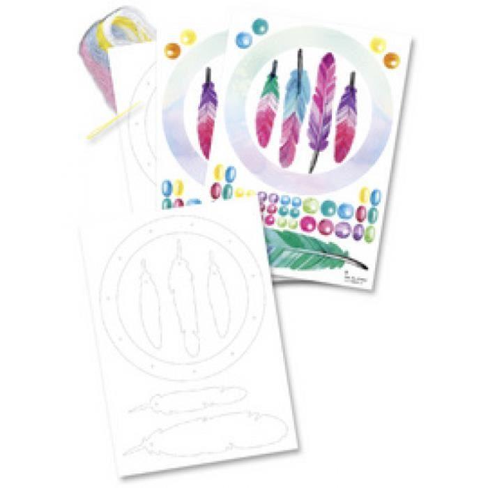 folia Kit pour attrape-rêves -Kids-, 8 pièces 0,000000 Noir