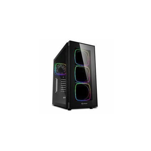 """Sharkoon TG6 RGB Midi ATX Tower Noir (TG6 RGB - Mini-ITX/Micro-ATX/ATX, 3 x 8.89 cm [3.5"""" ] , 4 x 6.35 cm [2.5"""" ] , 2 x USB"""