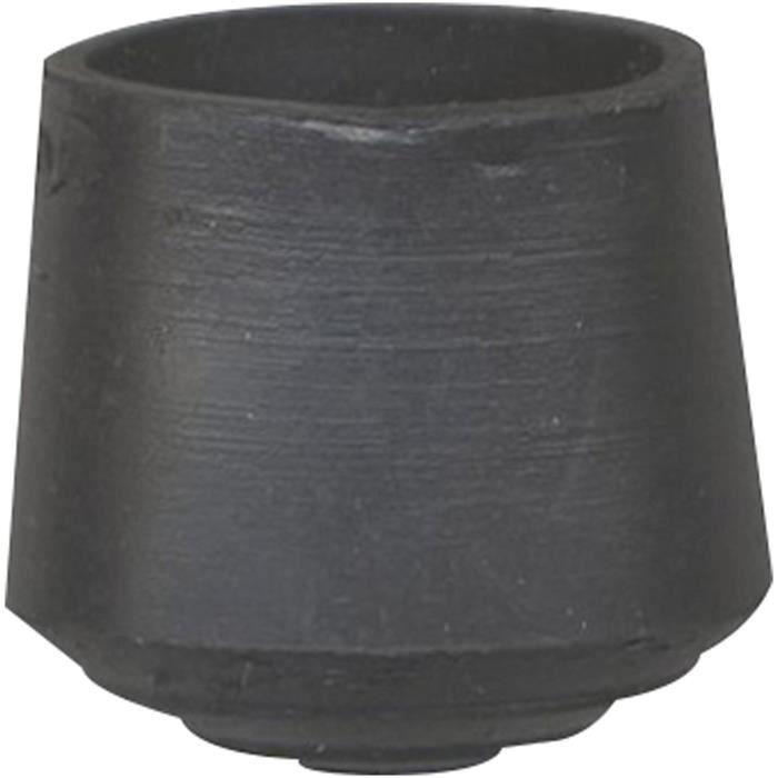 Embout patin enveloppant - noir - lot de 4 - D: 22 mm