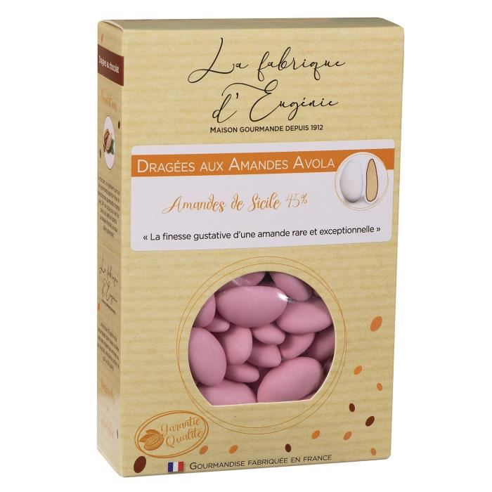 LA FABRIQUE D'EUGENIE Dragées aux Amandes Avola 45% - Rose - 500 g
