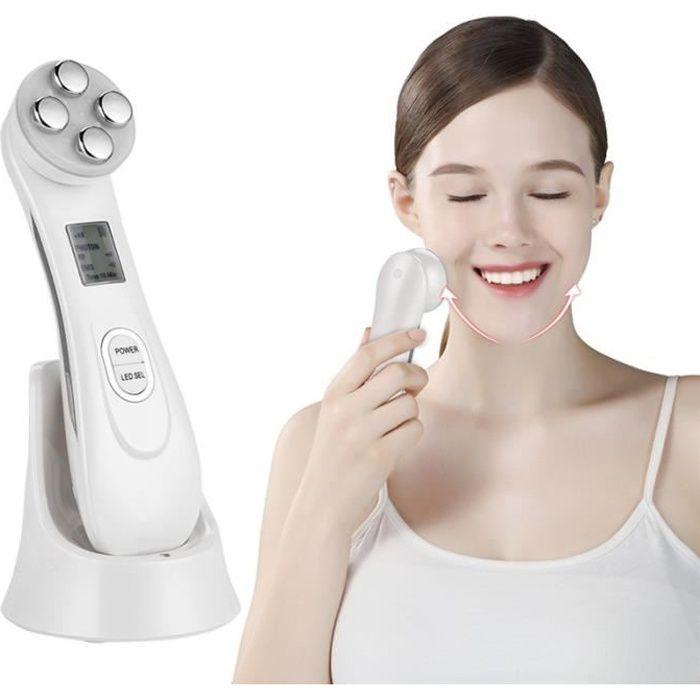 EMS Appareil à Ultrason Visage, LED Massage Visage Appareil Visage Anti Age Luminotherapie Appareil, LED Photon Dispositif de Soins