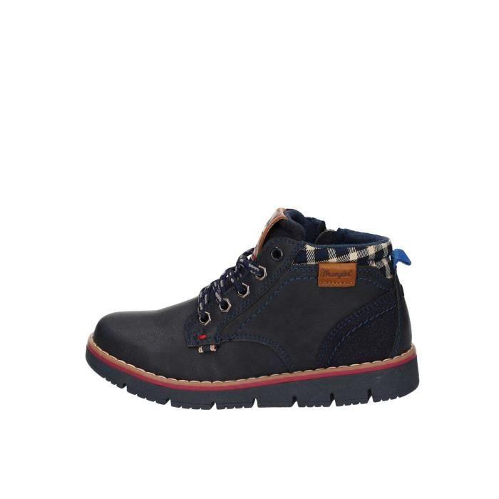 Wrangler Junior WJ17215 chaussures de tennis faible Enfant BLEU MARINE