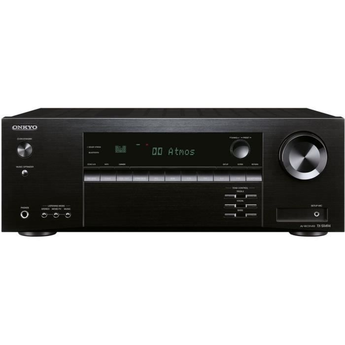 ONKYO TX -SR494 -B Amplificateur audio -vidéo 7.2 - 155 W par canal - Prise en charge des fonctions de lecture Dolby Atmos