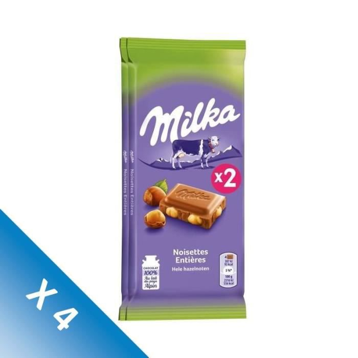 [LOT DE 4] Milka noisette 200 g Milka