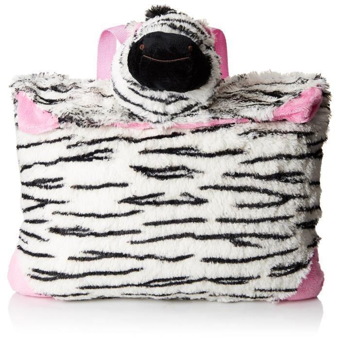 Pillow Pets Sac à dos en peluche Zippity Zebra KI2D5