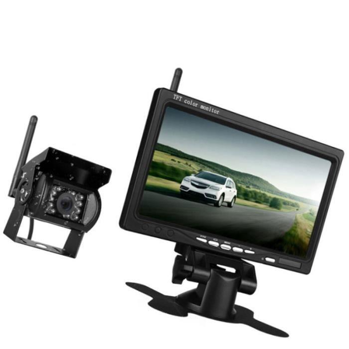 1 pc Moniteur de rétroviseur de voiture léger réutilisable Durable MONITEUR DE VIDEOSURVEILLANCE - ECRAN DE VIDEOSURVEILLANCE
