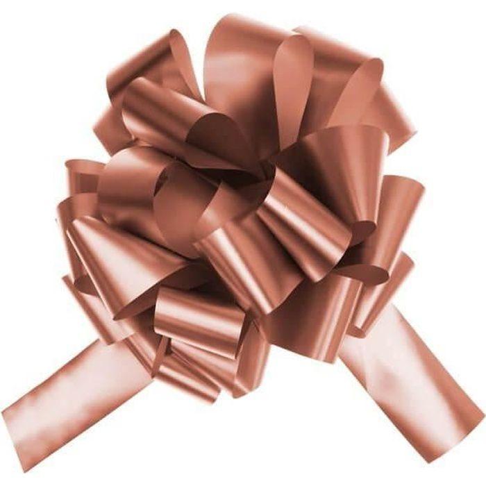 Grand noeud automatique à tirer rose gold métallique (x1) REF/6599