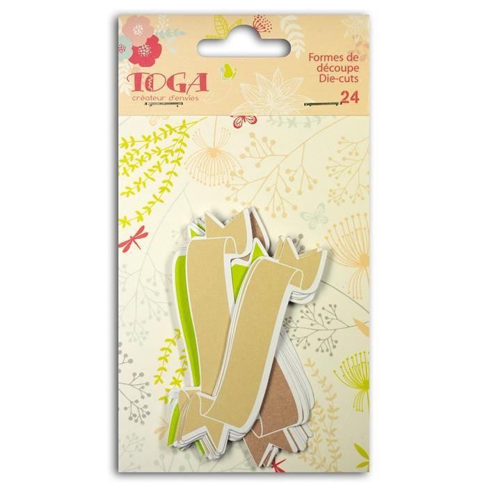 Toga - 24 formes découpées bannières vert-taupe-beige
