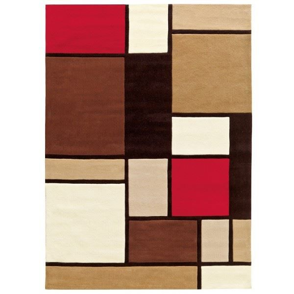 tapis design brown cubes 170 x 240 achat vente tapis cdiscount. Black Bedroom Furniture Sets. Home Design Ideas