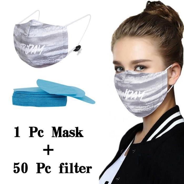 Lot de 5 /éponges r/éutilisables pour prot/éger le visage contre la poussi/ère et les gaz respirantes unisexes antid/érapantes