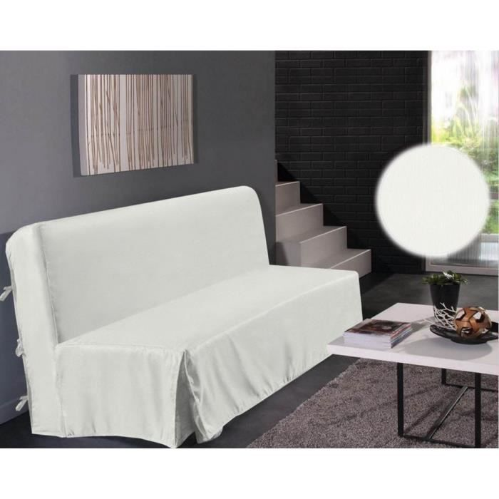housse de clic clac blanc dimensions 140x200cm achat. Black Bedroom Furniture Sets. Home Design Ideas
