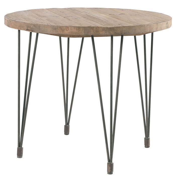 Table ronde pin massif 39 nola 39 90cm achat vente table a manger seu - Plateau en pin massif ...