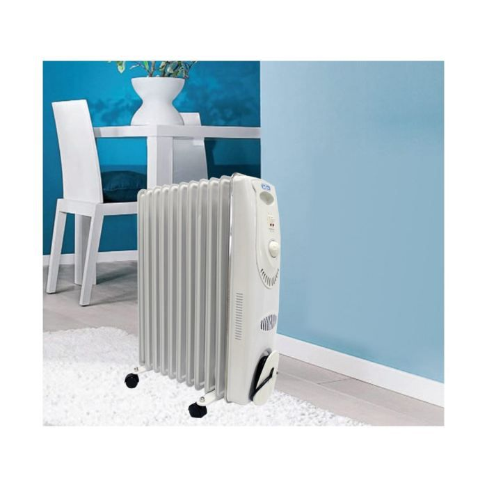 radiateur bain d 39 huile blanc 2000w en 11 fins achat. Black Bedroom Furniture Sets. Home Design Ideas